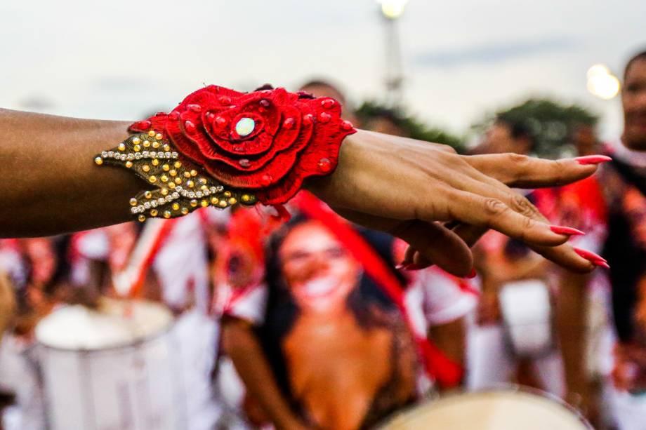 Ensaio técnico da Dragões da Real para o Carnaval 2017, no Sambódromo do Anhembi, em São Paulo