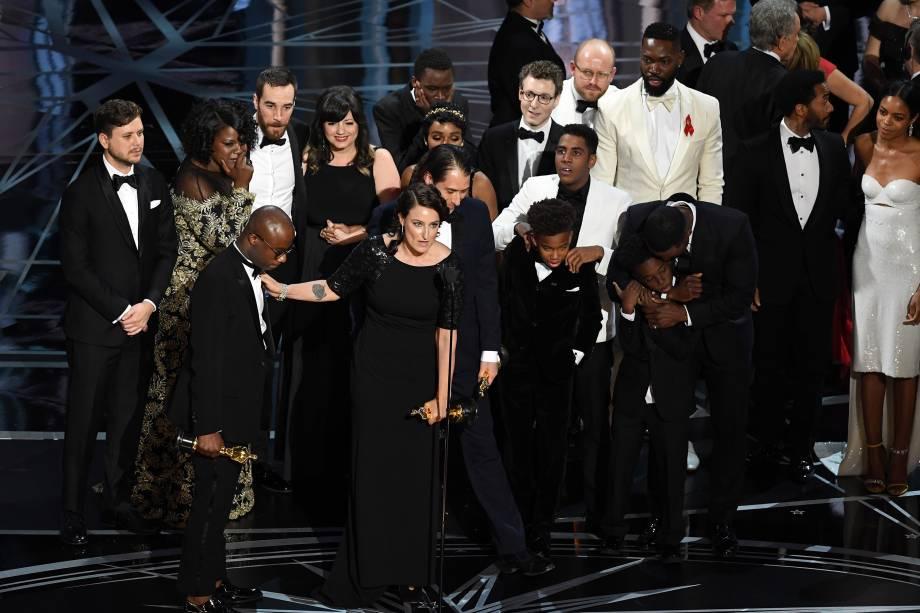 Elenco de 'Moonlight: Sob a Luz do Luar' vencedor do Oscar de Melhor Filme - 27/02/2017