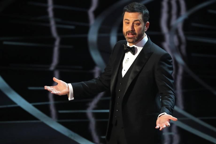 Jimmy Kimmel durante discurso de abertura da cerimônia de premiação do Oscar - 26/02/2017