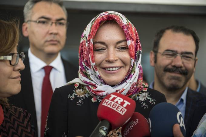 Linday Lohan em Gaziantep, na Turquia