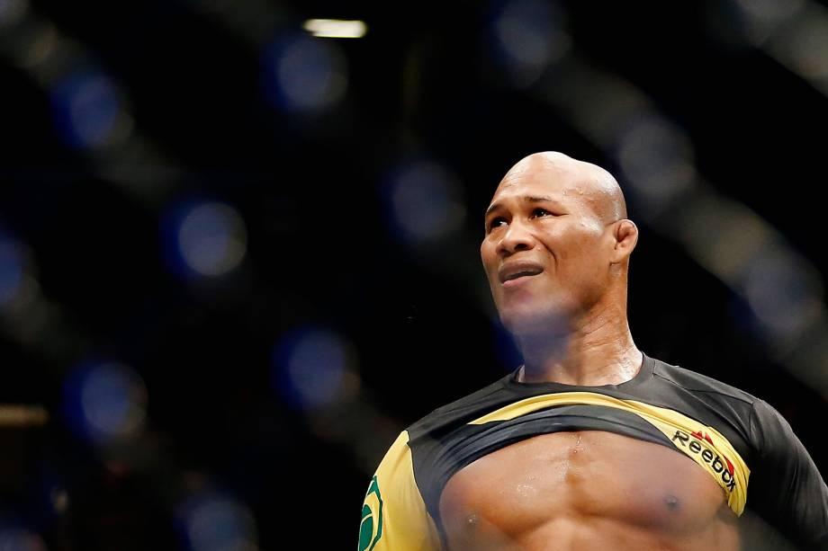 Ronaldo Jacaré após vitória na luta contra o americano Tim Boetsch no UFC 208 em Nova York