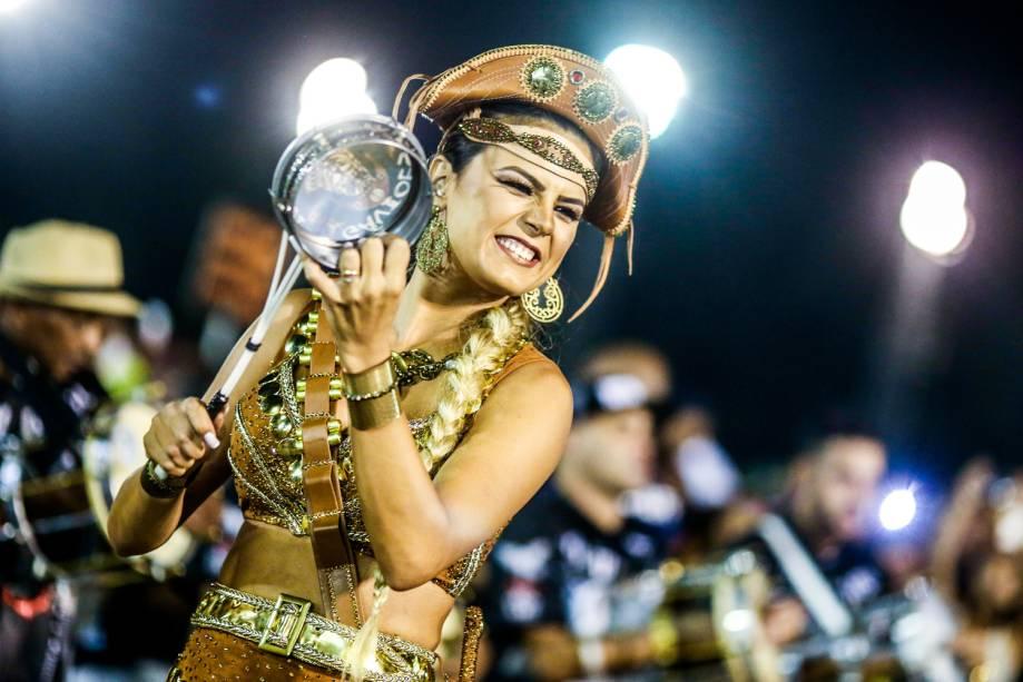 Ensaio técnico da Gaviões da Fiel para o Carnaval 2017, no Sambódromo do Anhembi, em São Paulo