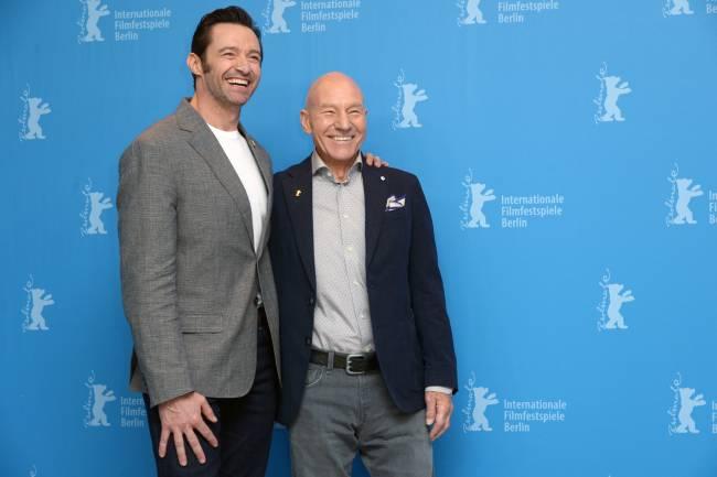 Atores Hugh Jackman e Patrick Stewart divulgam o filme 'Logan' no Festival de Berlim 2017