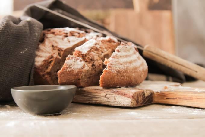 Pão ciabatta fresco