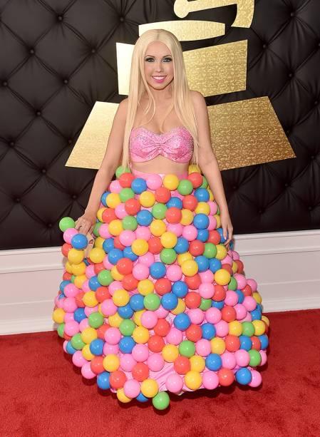 Girl Crush durante o Grammy 2017 no Staples Center, em Los Angeles