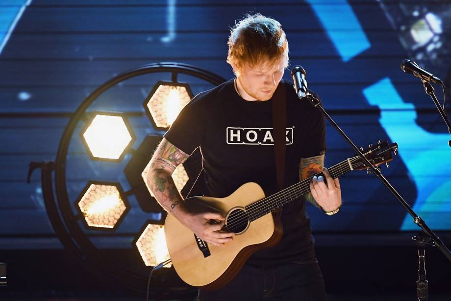 Ed Sheeran durante a cerimônia da 59ª edição do Grammy, em Los Angeles, nos Estados Unidos - 12/02/2017