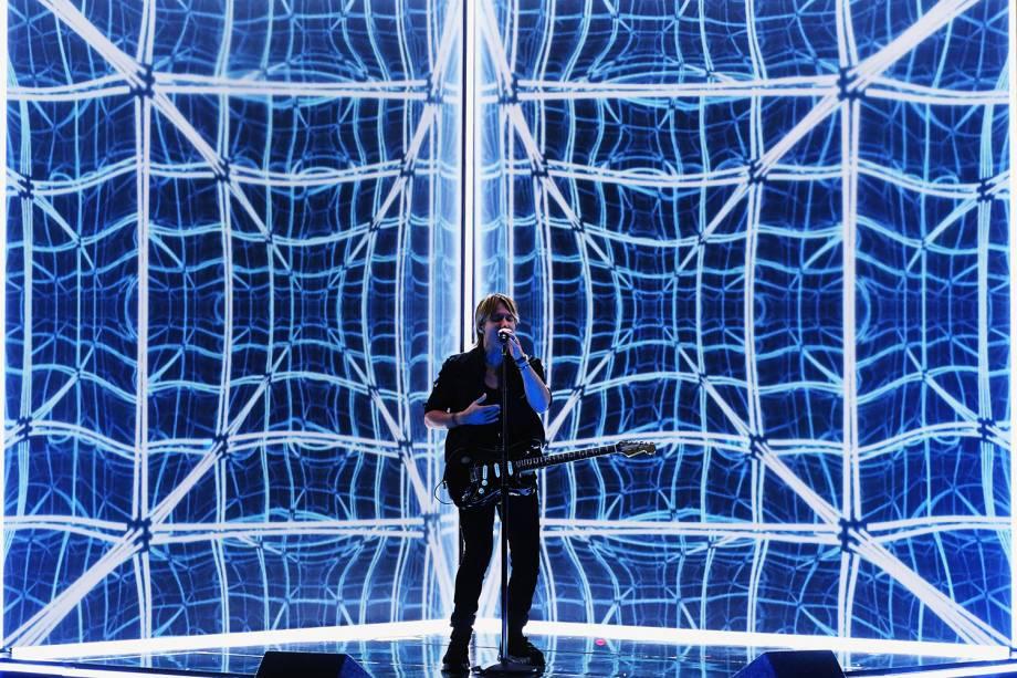 Keith Urban durante a cerimônia da 59ª edição do Grammy no Staples Center, em Los Angeles, nos Estados Unidos - 12/02/2017
