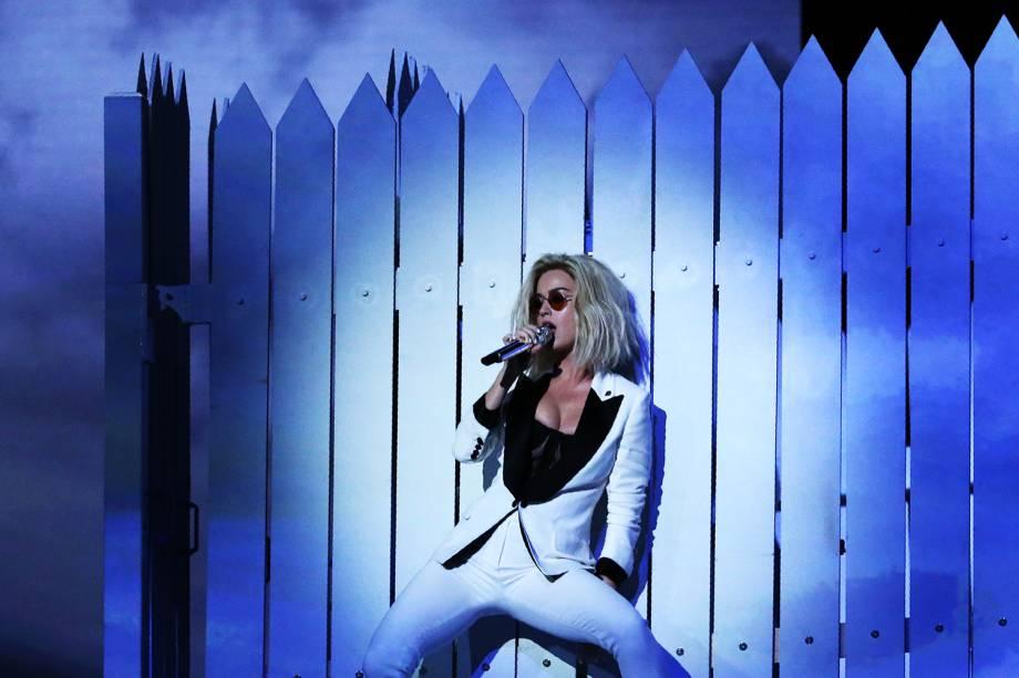 Katy Perry durante a cerimônia da 59ª edição do Grammy no Staples Center, em Los Angeles, nos Estados Unidos - 12/02/2017