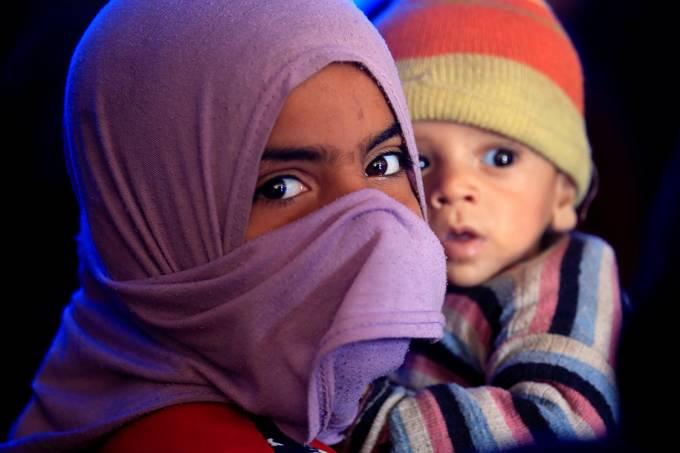 Imagens do dia – Crise de refugiados no Iraque