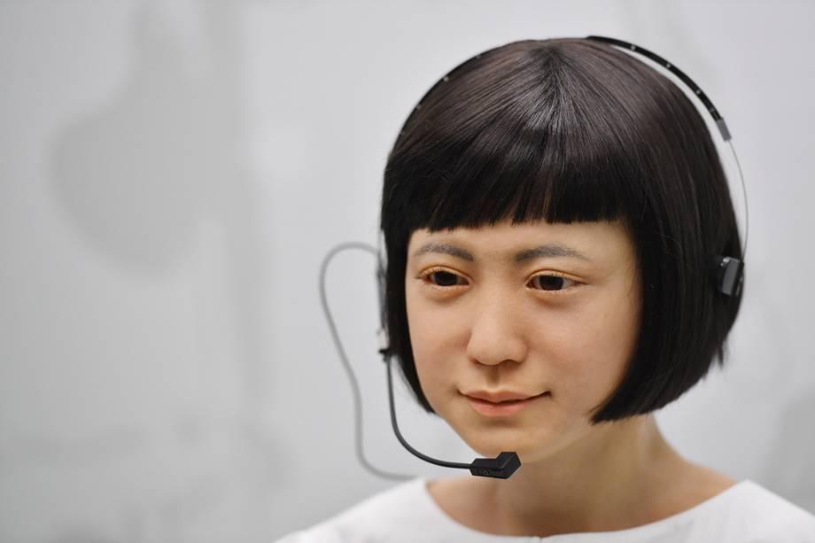 Robô produzido no Japão é uma das peças que integra exposição de tecnologia no Museu da Ciência, em Londres - 07/02/2017
