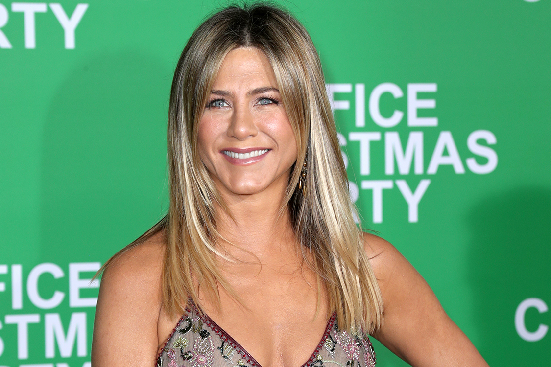 "WESTWOOD, CA - DECEMBER 07: Actress Jennifer Aniston attends the LA Premiere of Paramount Pictures ""Office Christmas Party"" at Regency Village Theatre on December 7, 2016 in Westwood, California. (Photo by Jonathan Leibson/Getty Images for Paramount Pictures)"