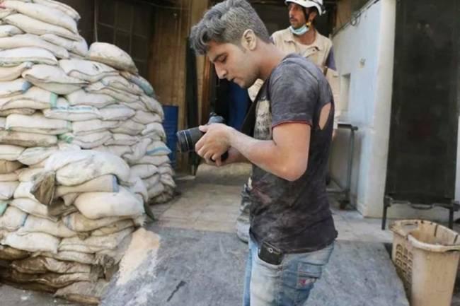 O cineasta sírio Khaled Khatib