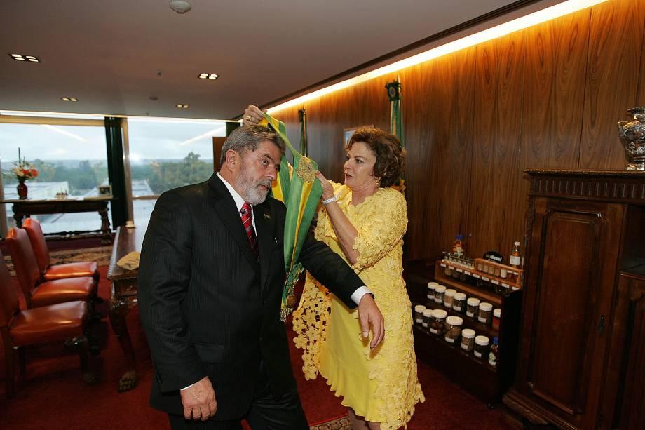 Lula ao lado de Marisa Letícia, em foto tirada em 2009