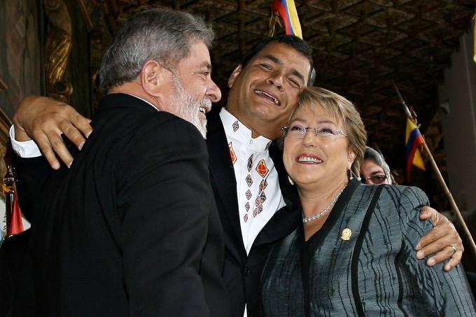 Lula, Bachelet e Correa