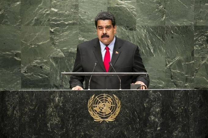 O presidente da Venezuela, Nicolás Maduro, durante assembleia geral na ONU