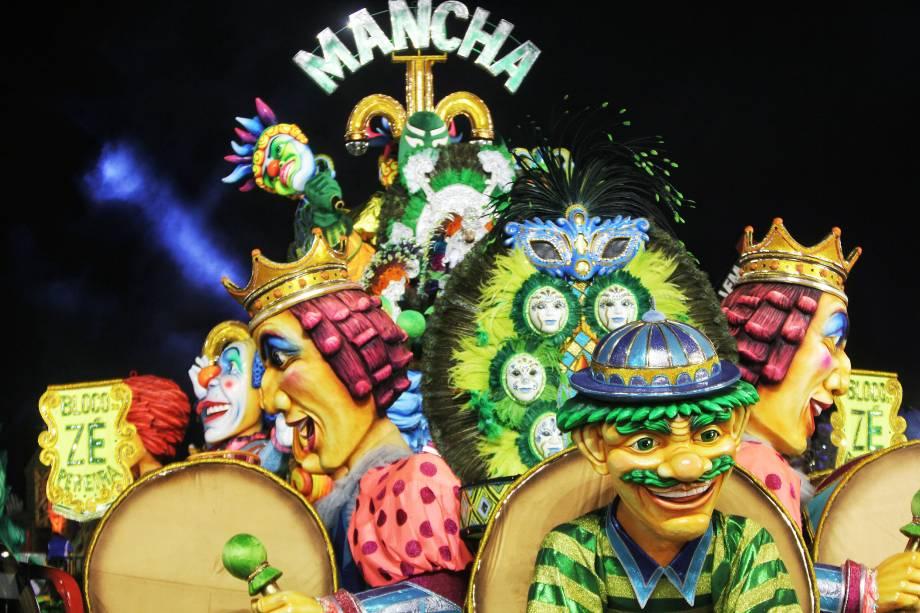 Desfile da escola de samba Mancha Verde pelo grupo especial, no sambódromo do Anhembi, em Sao Paulo, no segundo dia dos desfiles - 25/02/2017