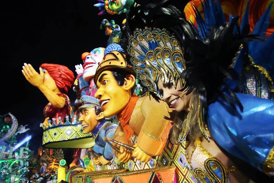 Escola de samba Mancha Verde, durante desfile do grupo especial do Carnaval de São Paulo, no Sambódromo do Anhembi, zona norte de São Paulo - 25/02/2017