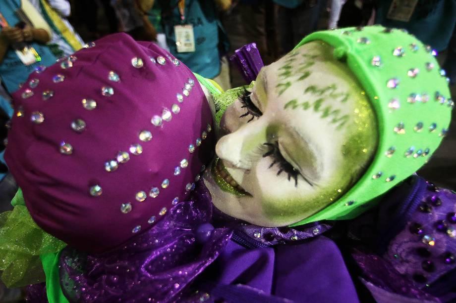 Com o enredo 'Zés do Brasil: Um nome e muitas histórias', a escola de samba Mancha Verde desfila no Sambódromo do Anhembi, em São Paulo (SP) - 25/02/2017