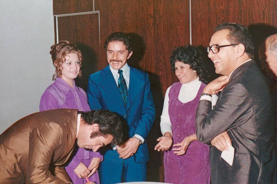 Cerimônia de casamento de Marisa Letícia e Lula, em 1973