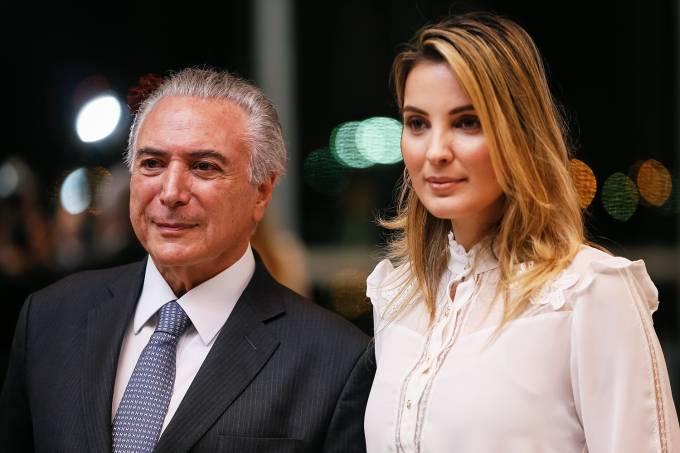 Presidente Michel Temer e a primeira-dama Marcela Temer