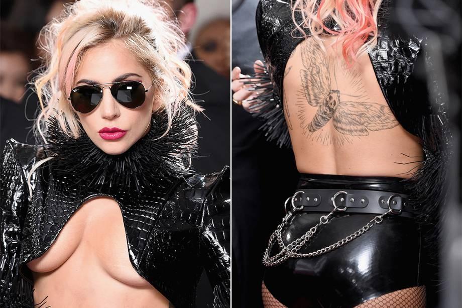 Lady Gaga durante a cerimônia da 59ª edição da maior premiação da música no Staples Center, em Los Angeles, nos Estados Unidos - 12/02/2017
