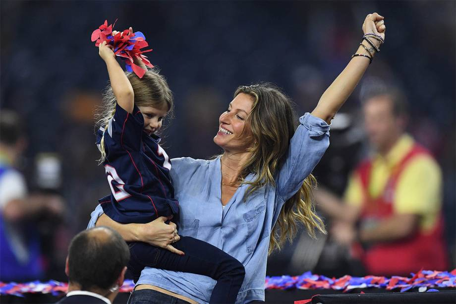 Gisele Bundchen durante a final da 51ª edição do Super Bowl - 05/02/2017