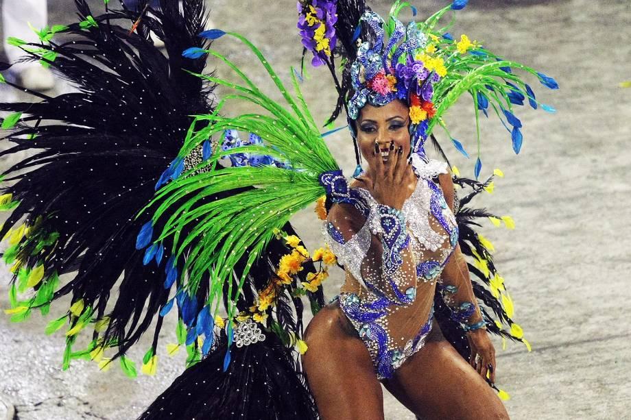 Desfile da escola de samba Paraíso do Tuiuti, no Sambódromo da Marquês de Sapucaí, no Rio de Janeiro (RJ) - 26/02/2017