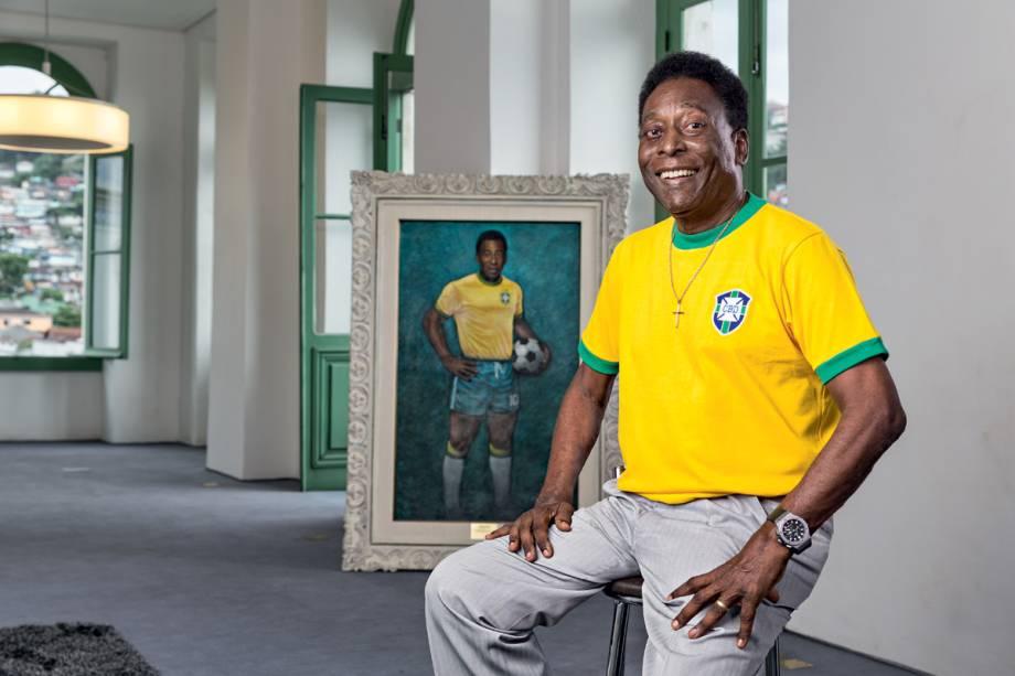 O ex-jogador no Museu Pelé, em 2017