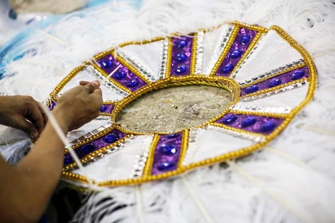 Preparativos das escolas de samba do Rio de Janeiro para o Carnaval 2017