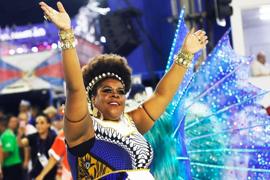 Cacau Protásio durante o desfile da escola de samba União da Ilha do Governador, no Sambódromo da Marquês de Sapucaí, no Rio de Janeiro (RJ) - 27/02/2017