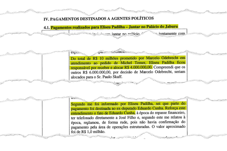 CAIXA DOIS: o ex-executivo da Odebrecht contou como a empresa repassou 10 milhões de reais ao PMDB a pedido de Temer