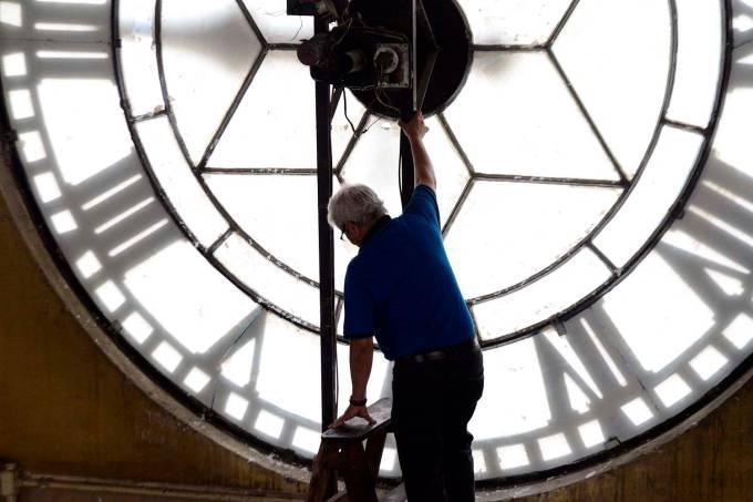 O relógio da Estação Júlio Prestes