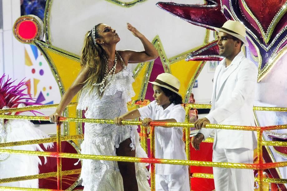 A cantora Ivete Sangalo é a homenageada no desfile da Acadêmicos do Grande Rio, na Marquês de Sapucaí - 26/02/2017