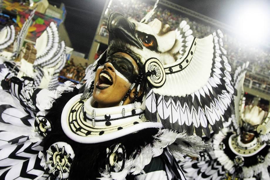Desfile da escola de samba Imperatriz Leopoldinense, no Sambódromo da Marquês de Sapucaí, no Rio de Janeiro (RJ) - 27/02/2017