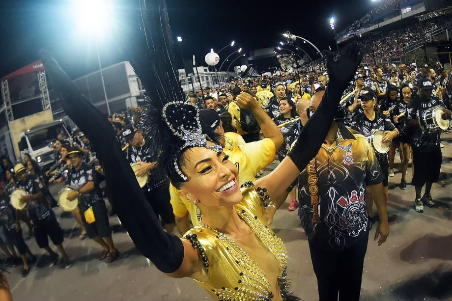 Sabrina Sato durante ensaio técnico da Gaviões da Fiel para o Carnaval 2017, no Sambódromo do Anhembi, em São Paulo