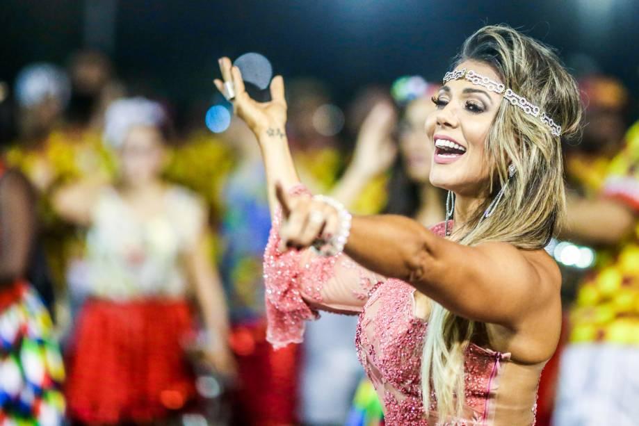Ensaio técnico da Tom Maior para o Carnaval 2017, no Sambódromo do Anhembi, em São Paulo