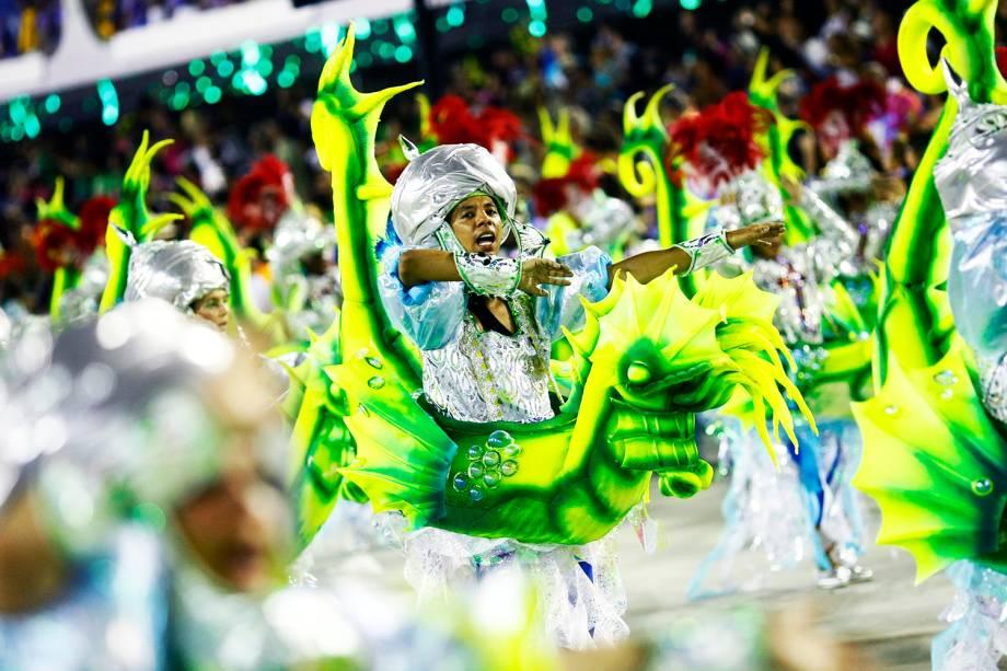 Desfile da escola de samba Mocidade Independente de Padre Miguel, no Sambódromo da Marquês de Sapucaí, no Rio de Janeiro (RJ) - 28/02/2017