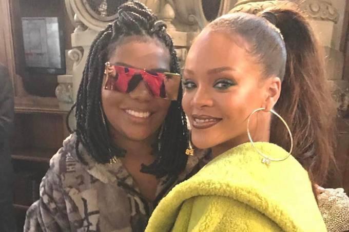 Ludmilla encontra Rihanna em Paris