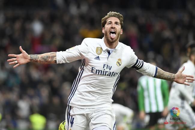 Sergio Ramos salva Real Madrid na disputa contra o Betis, neste domingo