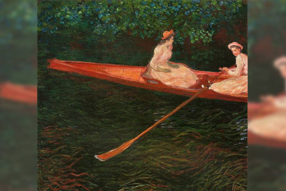 """""""A Canoa Sobre o Epte"""" por Claude Monet"""