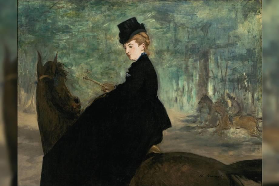 """""""A Amazona - Retrato de Marie Lefébure"""" por Edouard Manet"""