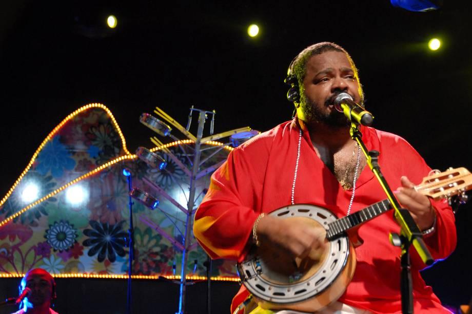 Arlindo Cruz em seu show no Projeto Verão no Morro, no Morro da Urca - 11 /01 /2008