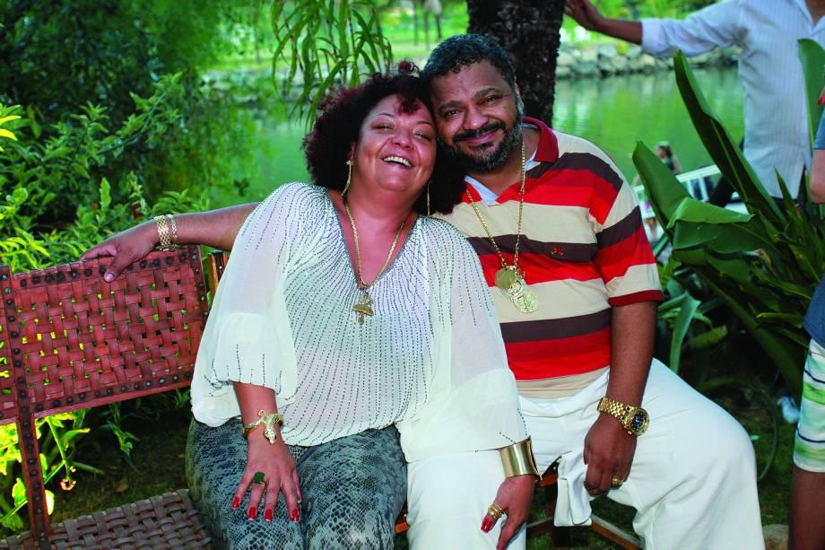 Arlindo Cruz e esposa Babi Na festa de aniversário de Regina Cazé e batizado de seu filho Roque - 15 / 03 /2014