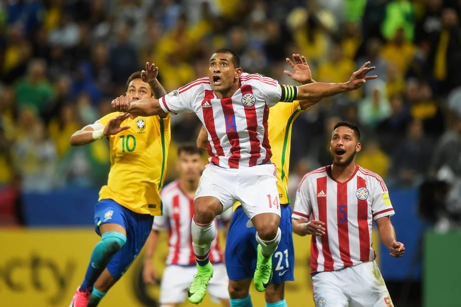 Neymar durante partida entre Brasil e Paraguai válida pela 14ª rodada das Eliminatórias da Copa do Mundo Rússia 2018, na Arena Itaquera, em São Paulo - 28/03/2017