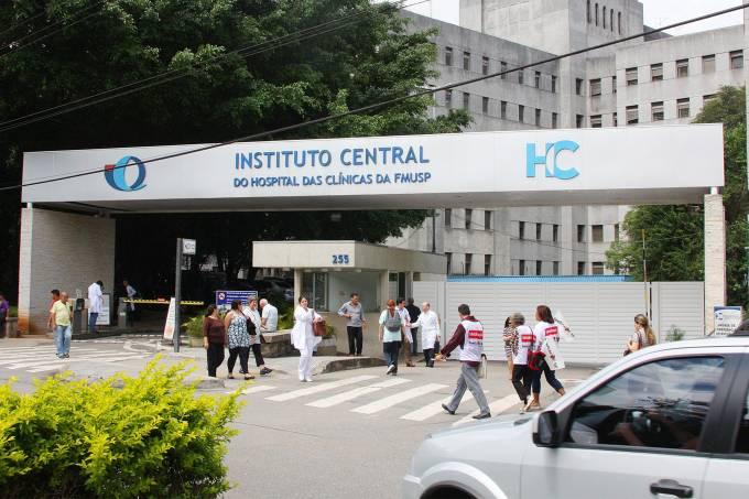 Fachada do Instituto Central do Hospital das Clínicas da FMUSP