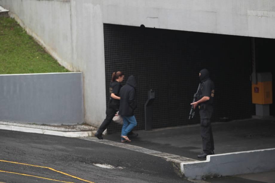 Movimentação na sede da Policia Federal no Paraná na manha durante a operação Carme Fraca - 17/03/2017