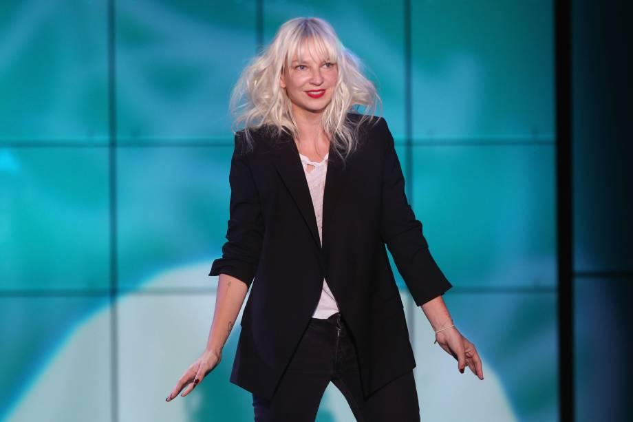 Sia durante show em Hollywood, nos Estados Unidos em 2013