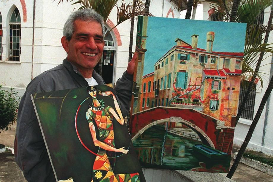 Francisco Costa Rocha, o Chico Picadinho, que já cumpriu sua pena pela morte e esquartejamento de duas mulheres, com quadros pintados por ele, na Casa de Custódia de Taubaté, em 2000