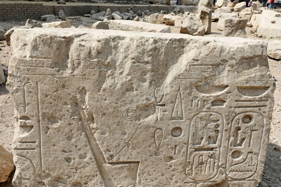Estátua do faraó Ramsés II, que governou o Egito há mais de 3.000 anos, na região de Matariya, no Cairo - 09/03/2017