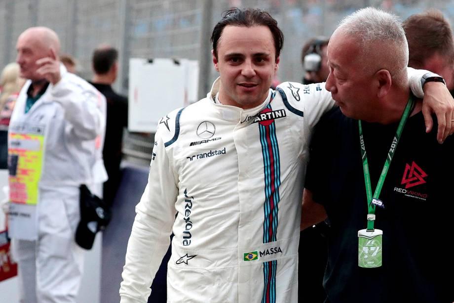 O brasileiro Felipe Massa, que corre pela Williams, conseguiu durante o treino desse sábado (25) a 7ª posição no grid de largada de amanhã para o Grand Prix da Austrália
